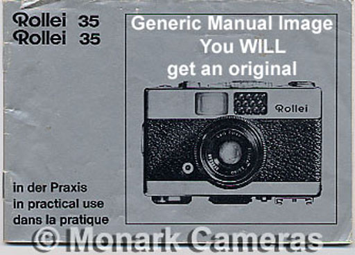 rollei 35 led instruction manual  more 35mm camera books rollei xf 35 user manual rollei 425 user manual